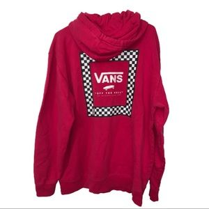 Van's pink pullover hoodie